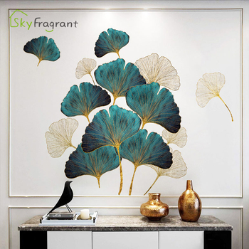 Fresh leaves wall stickers self-adhesive bedroom decor living room sofa background wall decor home warm sticker room decoration