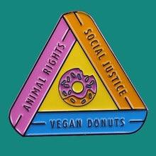 Vegan Enamel Pin Vegetarian Vegan Activism Vegan Mystery Seconds Enamel Pins Vegan Gift Vegan Pin Lapel Pin Animal Rights