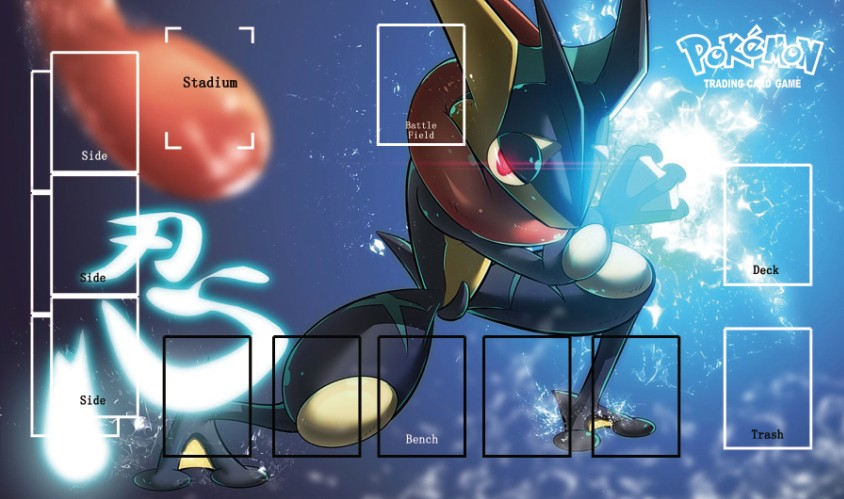 Takara Tomy PTCG Accessories Pokemon Card Game Table Playmat Greninja Toys For Children