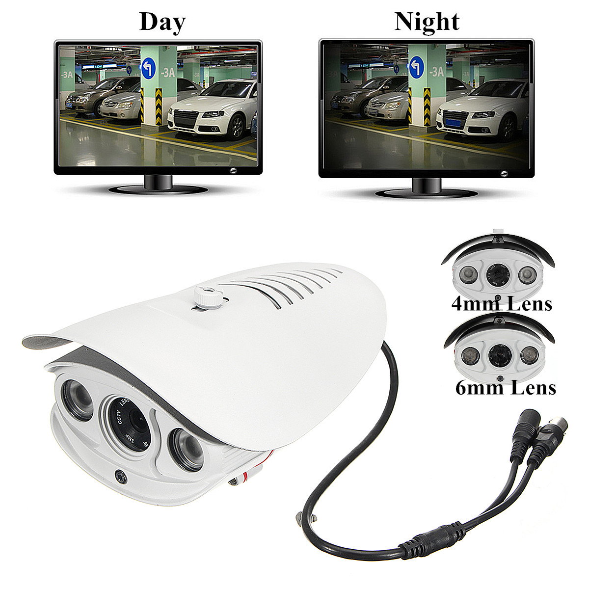 1080P PAL 12V IP Camera Home Security Monitor Night Vision Indoor Outdoor Waterproof Aluminum Alloy Camera 6/4mm Lens Big Sale