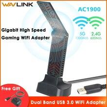 Wavlink ac1900 banda dupla usb 3.0 adaptador wi fi 1900 mbps 5.8g sem fio wi fi receptor 2.4 ghz wlan placa de rede para windows mac os x
