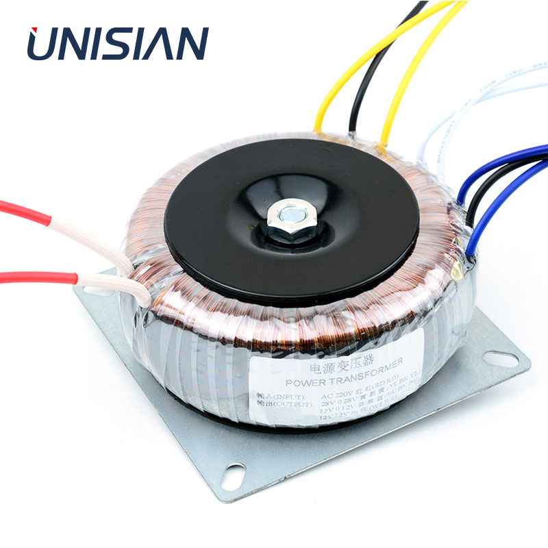 UNISIAN Amplifier Transformers DAC Power-Adapter Toroidal Dual-28v 200W 12V Preamp Single title=