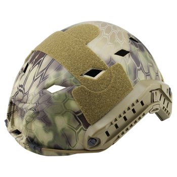 WST FAST Pore-Rhomb Camouflage Tactics Protective Helmet For Outdoor Activity - Multi-Terrain Python Pattern