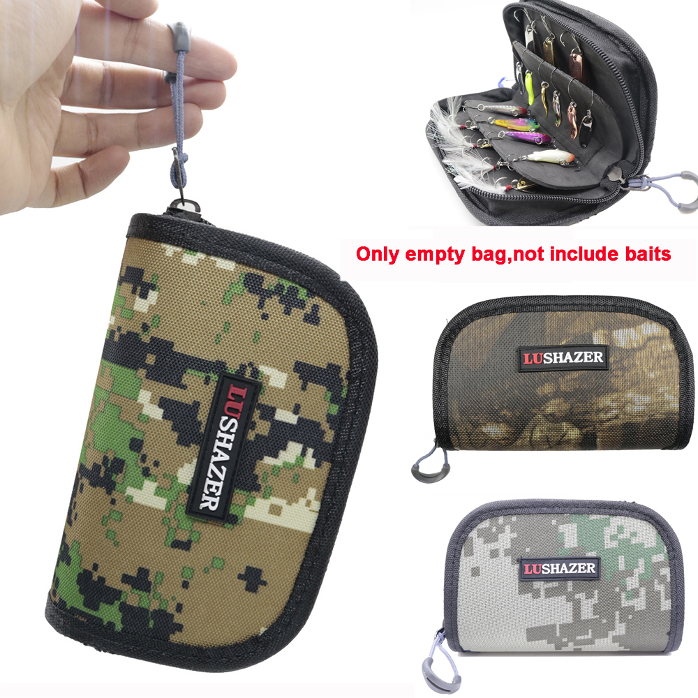 Outdoor Fishing Bag Portable Fishing Lure Container Bag For Spoon Lure Large Capacity Nylon Zipper Storage Case Fishing Tackle