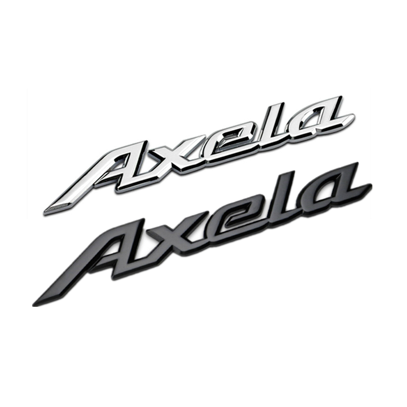 For Mazda Axela 18.2 * 2.3 Cm Car Stickers 3D Metal Logo Badge Front Hood Rear Trunk Emblem Decoration Accessories