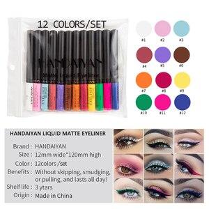 12 color matte eyeliners liqui