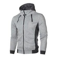 Hoodie Men Plus Size Hot Selling Casual Sweatshirt Mens Streetwear Tops Hoody Sweatshirts Comfortable Hoodies Males Zip-up Chic zip up lightning print plus size flocking hoodie and pants twinset
