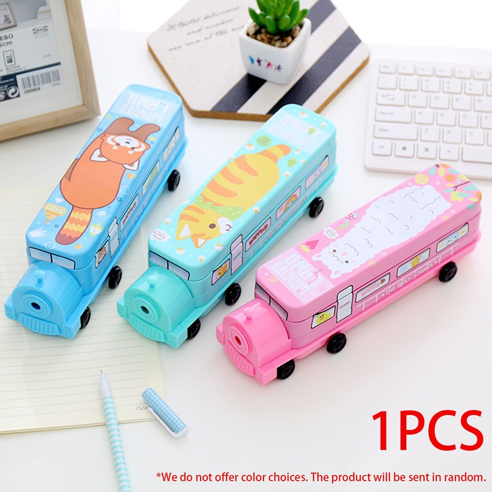 Stationery Organizing Box Case Foldable Organizer Kids School Pen Container