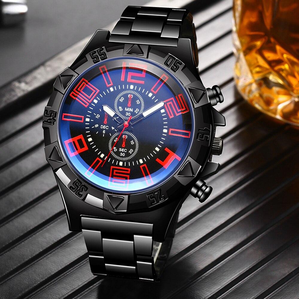Часы HEZHUKEJI мужские наручные, повседневные спортивные брендовые Роскошные модные из нержавеющей стали, синие|Спортивные часы| | АлиЭкспресс