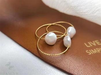 18 K Rose Gold Pearl Ring Jewelry K-Gold Jewelry