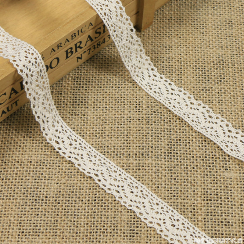 5yards/lot 1.8cm High Quality Hollow Flower Ribbon Lace Trim Cotton Fabric For Sewing Crafts Clothing