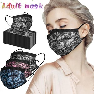 50pc Adult Fashion Lace Three Layer Disposable Protection Breathable For Outdoor Filter Mputh Cover New Large Stock Send Fast