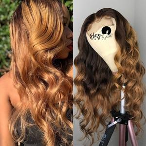 Image 4 - Pelucas de cabello humano liso con cierre de encaje de colores para mujer, peluca de cabello humano degradado, cabello brasileño Remy 4x4 con cierre de encaje Natural 180%