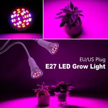 18W 28W Plant Grow Lamp LED Growing Bulb E27 Full Spectrum Led Seeding Light UV IR Greenhouse Hydroponics Phyto Lamp EU US Plug цена 2017