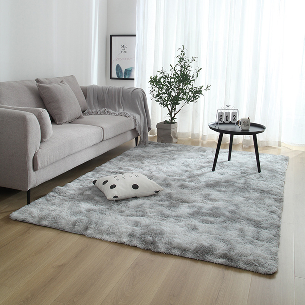 Modern Carpet Long Hair Rug Pile Plush Anti-Slip Bay Window Bedside Mat Washable Blanket Soft Carpets For Living Room/Bedroom