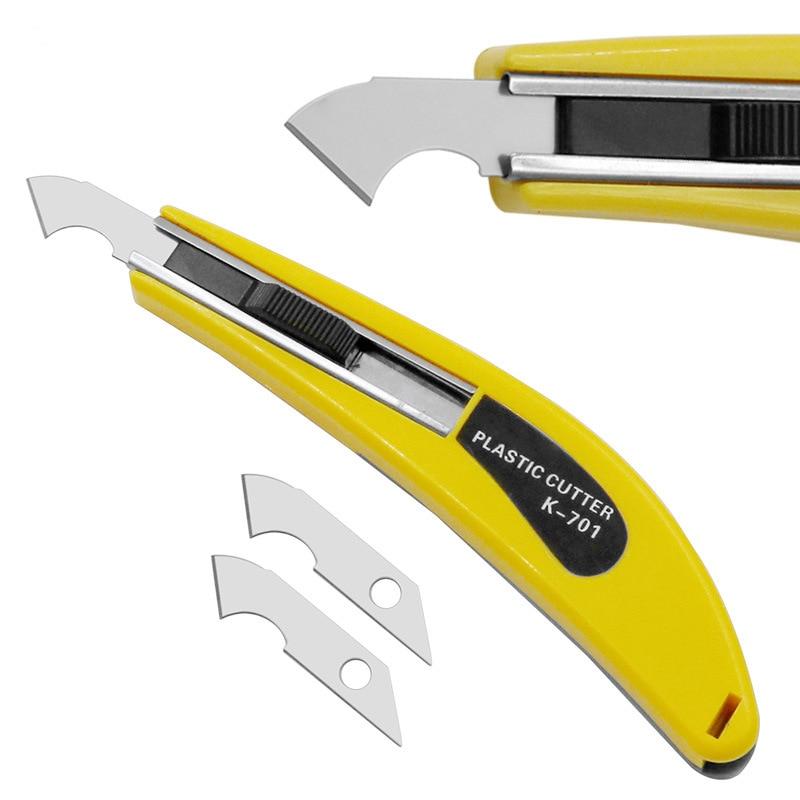 Perspex Cutter Hook Acrylic Cutting Tool With 3 Spare Blade Hook Knife Blades Steel DIY Plexiglass Repair Hand Organic Board