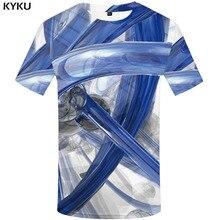3d Tshirt Psychedelic T-shirt Men Harajuku Printed White Funny T shirts Abstract Tshirts Casual Gothic T-shirts