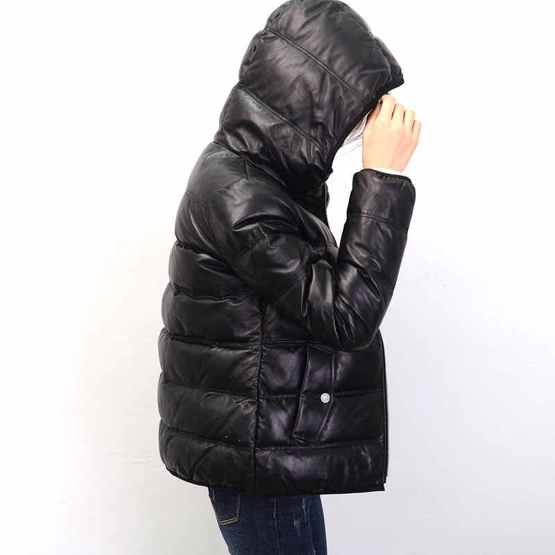 2019 Winter Down Jacket Women Genuine Sheepskin Coat Real Leather Jacket Winter Coat Women PP326
