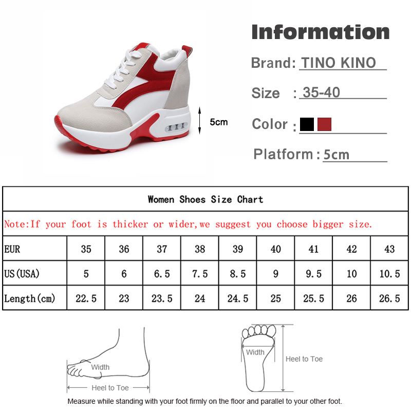 Women Platform Vulcanized Shoes Ladies Lace Up Casual Light Suede Shoes Woman Fashion Sneakers Female Ankle Heel Footwear 2020 6