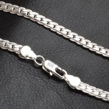 QiLeSen 925 sterling silver fashion men #8217 s Fine Jewelry 5mm 20 feet 50 cm silver necklace LN130 cheap Chains Necklaces NJQSIC Garnet Unisex Anchor Anniversary Other Artificial material Classic Link Chain N951 QiLeSen LN130