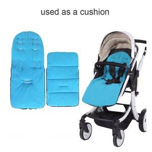 Image 2 - Детский матрас в коляске, водонепроницаемая муфта для ног, зимние спальные мешки, коврик, подкладка для коляски, конверт для новорожденных