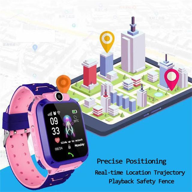 Q12 Children's Smart Watch SOS Phone Watch Smartwatch For Kids With Sim Card Photo Waterproof IP67 Kids Gift For IOS Android Z5S 5