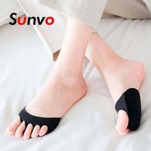 Cinq orteils avant-pied coussinets pour femmes talons hauts demi semelles callosités cors pied douleur soins absorbe les chaussettes de choc orteils coussinets