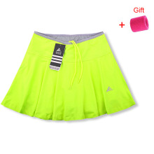 Спортивные штаны на открытом воздухе юбка женская быстросохнущая Беговая бадминтон теннисная юбка поддельные две короткие юбки с карманом