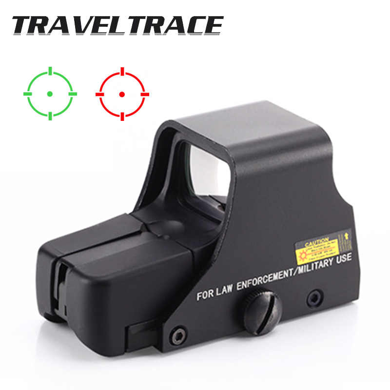 Berburu Riflescopes 22Mm Taktis Optik Aksesoris Hijau Red Dot Sight Hologram Collimator Refleks 4 Reticle Senapan Lingkup