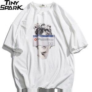 Image 3 - Camiseta divertida de estilo Hip Hop para hombre, ropa de calle con estatua de David de Michelangelo, Camiseta de algodón Harajuku, camisetas de manga corta 2020