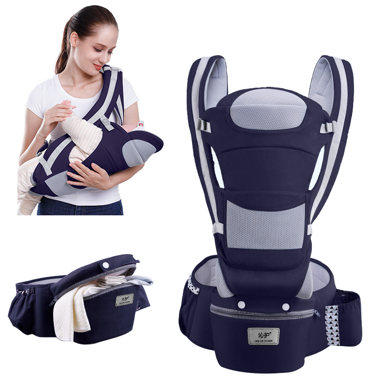 0-48M Ergonomic Front Facing Baby Carrier Infant Baby Hipseat Carrier Front Facing Ergonomic Kangaroo Baby Wrap Sling Travel