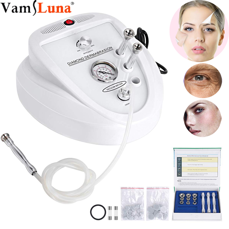 3 IN 1 Diamond Dermabrasion Microdermabrasion Machine Exfoliator Skin Rejuvenation Device, Wrinkle Removal, Safe Face Beauty
