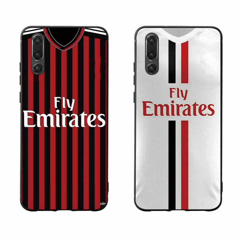 Football Milan Jersey Style Phone Case Cover For Huawei P Smart P10 P20 P30 Lite 2019 Honor 8X 9X Mate 10 20X 30 lite pro Case