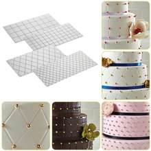Tapete de textura transparente para bolo, 4 unidades/conjunto textura transparente ferramentas de decoração bolo molde, impressão fondant, cozimento, cortador de fondant, ferramentas de bolo