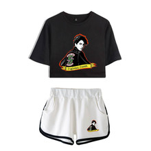 2019 southside riverdale new prints Two Piece Set for women Shorts and T-shirts Summer streetwear Hot Sale K-pops sets Plus Size(China)