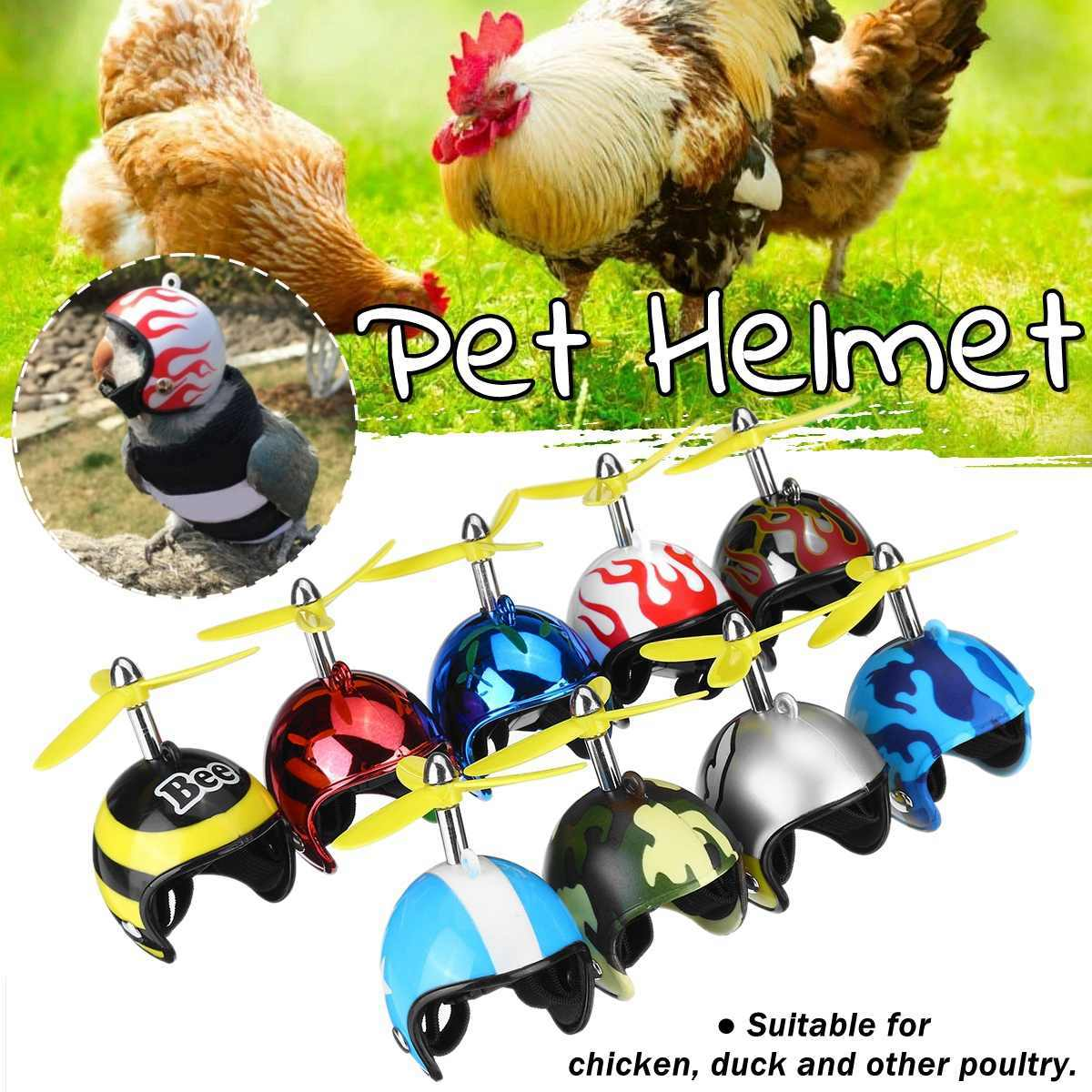 Chicken Bird Toy Head Protection Helmet Bird Hat Headwear Suitable for Parrot Small Chickens brown Ducks and Other Poultry Funny Pet Fuyamp Chicken Helmet