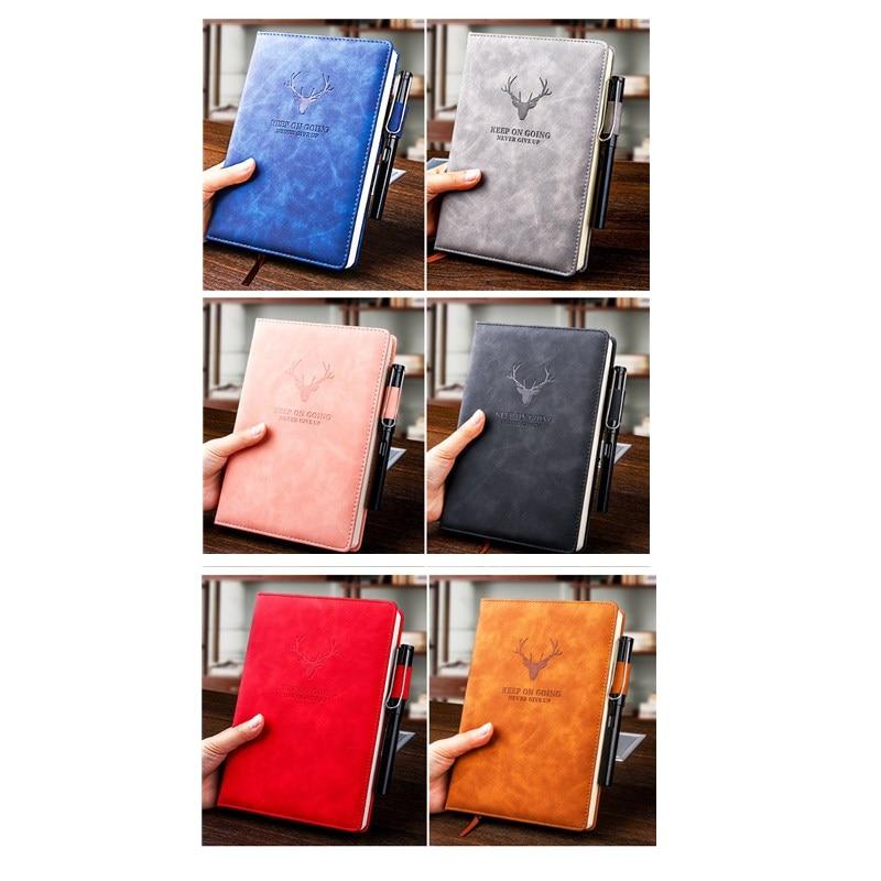 360 страниц супер толстый A5 дневник ежедневный бизнес офисный Рабочий ноутбук простой толстый колледж офисный Дневник Школьные принадлежности 6