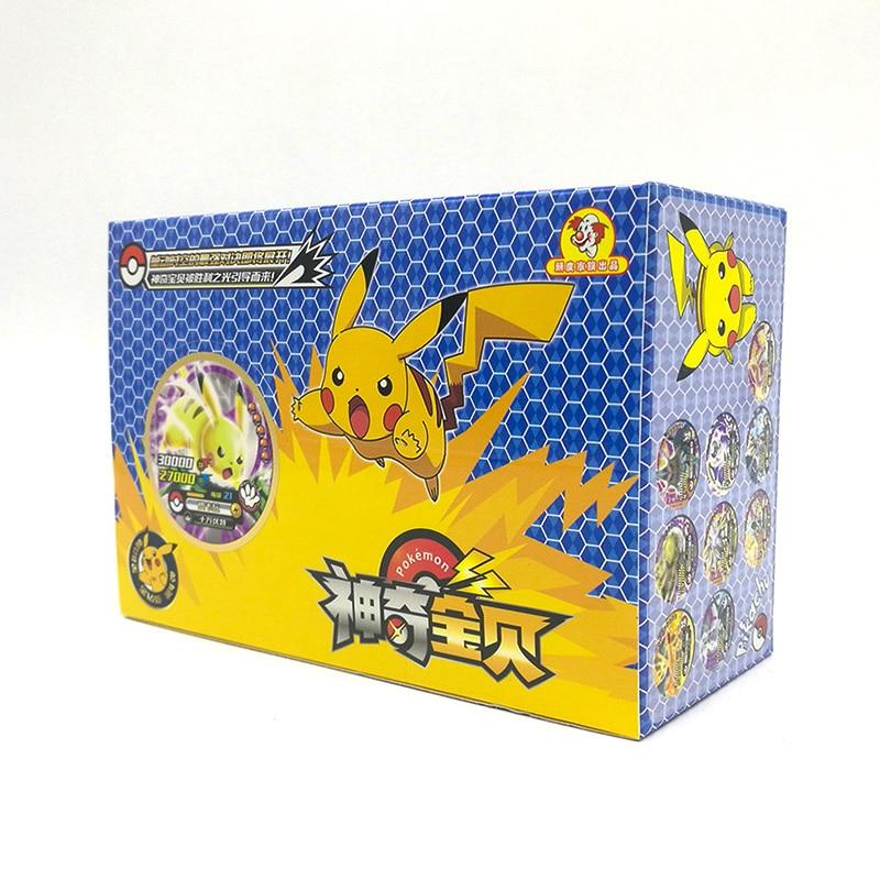 TAKARA TOMY Toys 288pcs Shining Pokemon Round Cards Collections Pikachu Flash Card 12pcs/box 24box/set Board Game For Kids Gift
