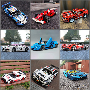 Expert Creator Ideas Technic Series City Super Racing Car F1 Building Blocks Bricks Moc Model Modular Kits Sets Christmas Gifts image