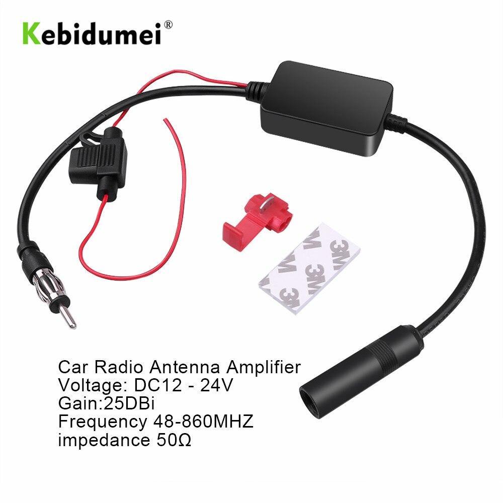 Универсальный автомобильный радиоприемник kebidumei 12 В, fm-антенна, усилитель сигнала, усилитель для морского автомобиля, автомобильный fm-усили...
