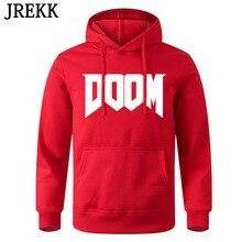 Hoodies Men Clothing Sweatshirts DOOM Pullover Logo-Printed Children Women Casual C154