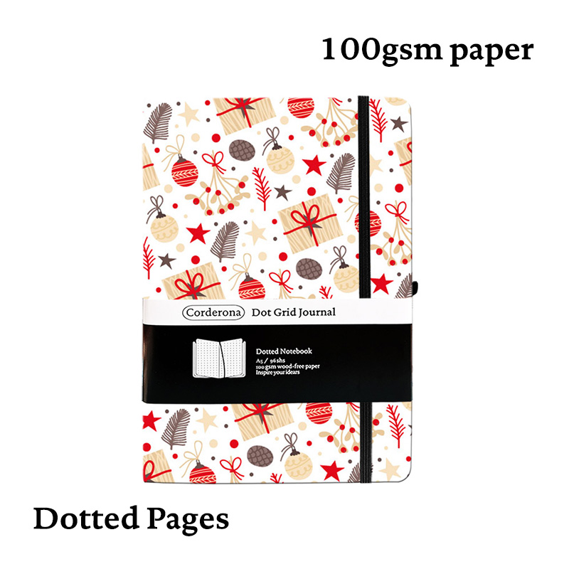A5 Hard Cover Dotted Bullet Notebook Dot Grid Journal 100g Bujo Christmas Travel Planner Diary
