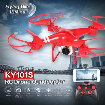 KY101S RC Drone With Camera HD Wifi FPV Altitude Hold One Key Return Landing Off Headless RC Quadcopter Drone Long Flight Time jdrc jd 20s hd camera aerial ultra long flight time quadcopter uav