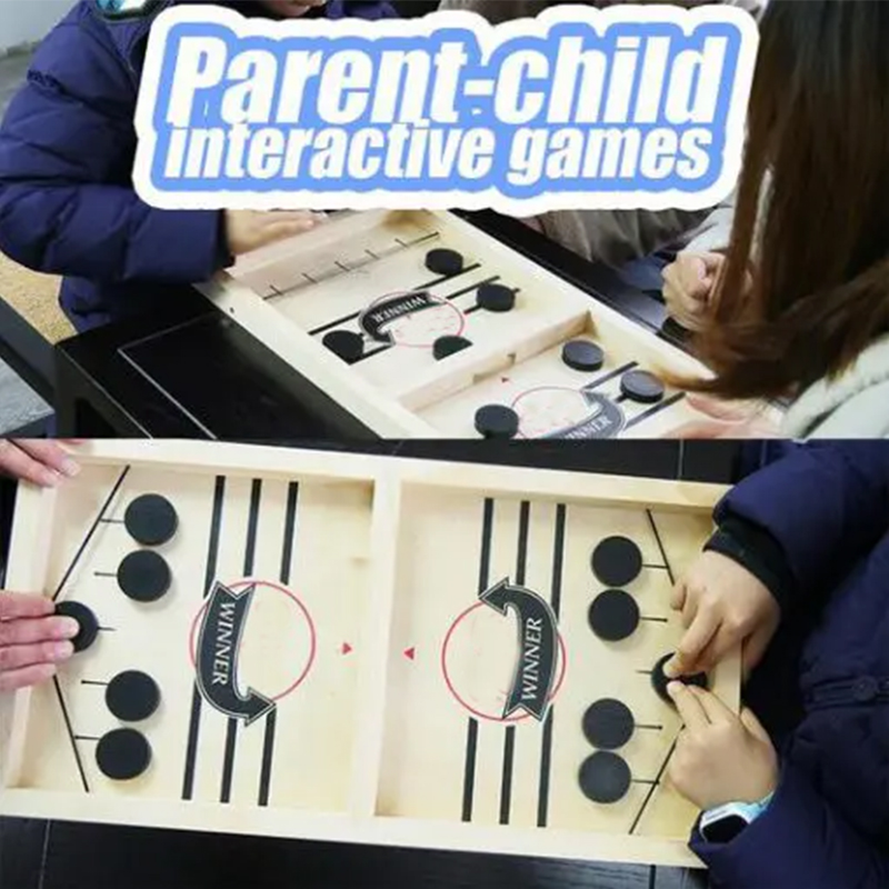 Catapult Chess Bumper Chess Parent-child Interactive Game Table Desktop Battle 2 In 1 Ice Hockey Game Drop Shipping