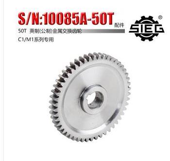 Darmowa wysyłka 1pc 50T SIEG S N 10085B wymiany biegów frezarki C1 M1 metal gear mini tokarka biegów metalu tanie i dobre opinie Pierścień zębaty Precyzyjny odlew Standardowy Przekładnia stożkowa STAINLESS STEEL