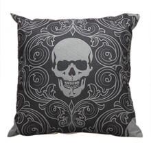 Cushion-Cover Decoration-Accessories Skull-Pillow-Case Home-Decor Coussin Halloween Sofa