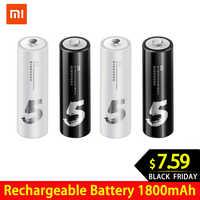 4 pzas/lote Original ZMI ZI7 ZI5 AAA AA 700mAh 1800mAh 1,2 V batería Ni-MH recargable ZIM banco de energía #