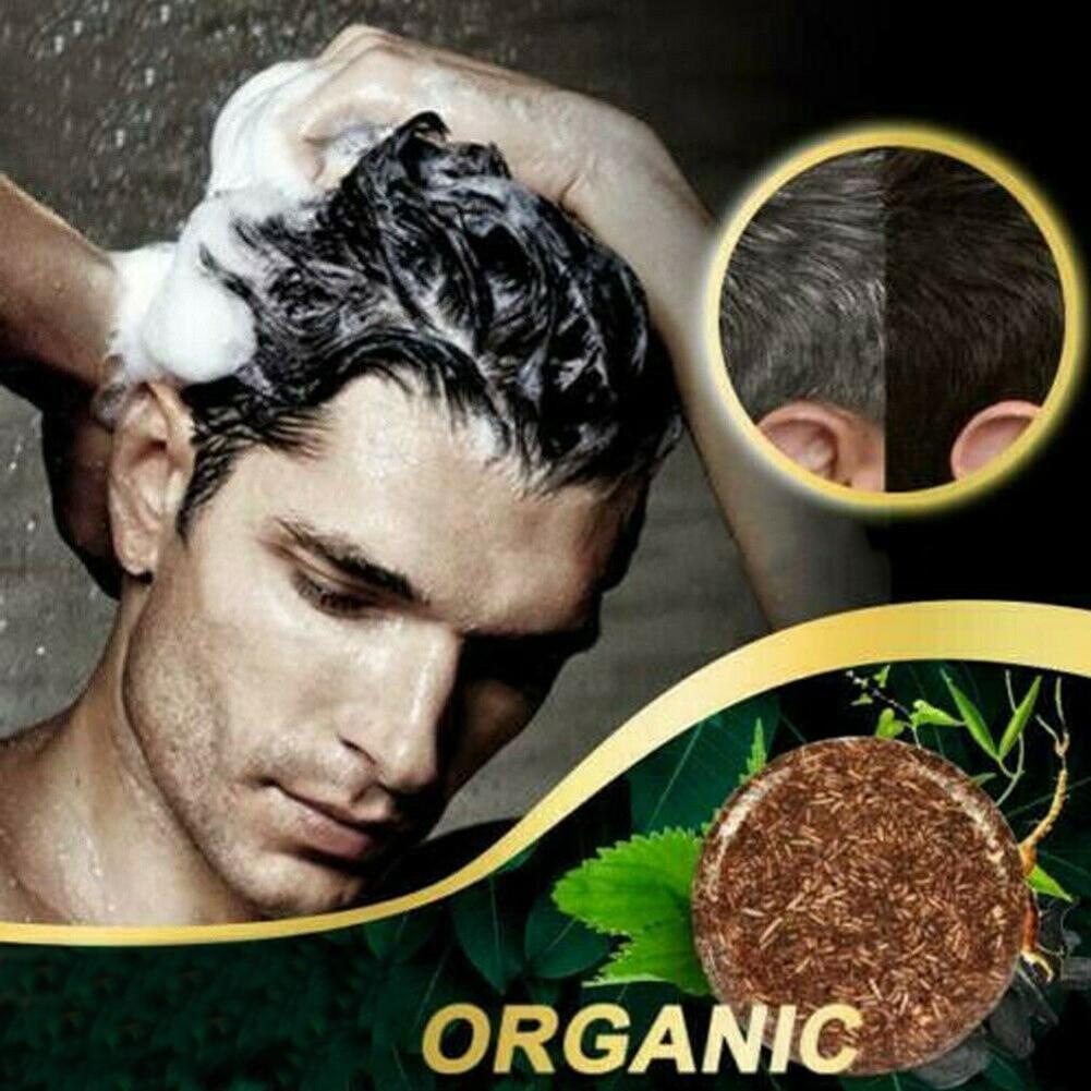 Grey Reverse Shampoo Bar Polygonum Multiflorum Essence Hair Darkening Shampoo Soap OCT998