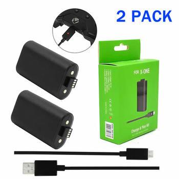 2 sztuk ładowalny akumulator + 1x 2 75m kabel do ładowania usb do konsoli Xbox One bezprzewodowy kontrolery gier akumulatorki zamienne tanie i dobre opinie probty Microsoft