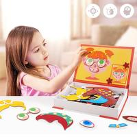 Magic Magnetic Puzzle Jigsaw Toy Brain Training Game Crazy Face changing Puzzle Educational Toys For Children Christmas Gift